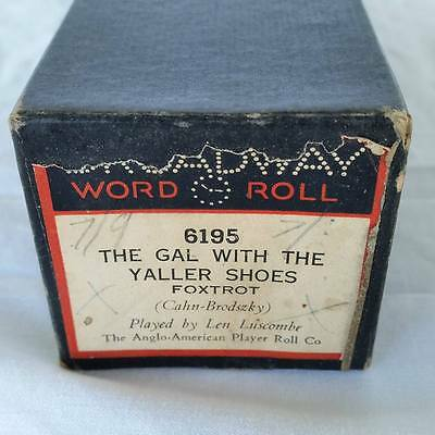 Pianola Piano Roll The Gal With The Yaller Shoes Broadway 6195  - 028