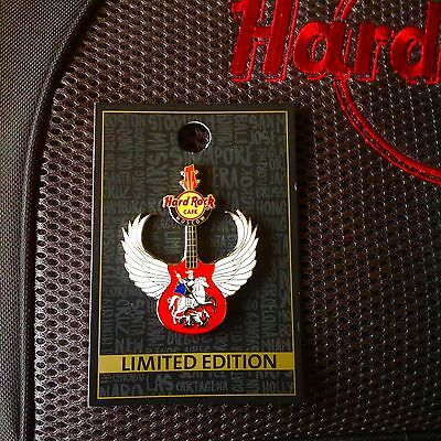 Sold Out! HARD ROCK CAFE PIN Russia Moscow guitar with wings 2016 LE 200