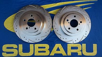 Subaru Impreza 2 POT Performance rear Brake Disc drilled and grooved 290mm