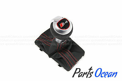 Audi S4 B8 Gear Shift Knob Leather Magma Red Stitching 8K1713139 GENUINE