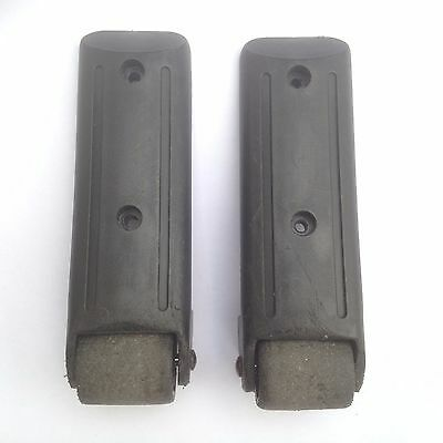 SUITCASE wheel REPLACEMENT used SPARE pair L&R upright ANGLED corner FREE post -