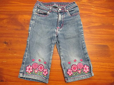 Pumpkin Patch Girls Size 3 Jeans, Denim floral embroidery casual basic blue pink