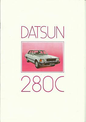 Datsun 280C Sales Brochure - 1982, Featuring 280C Saloon and Estate