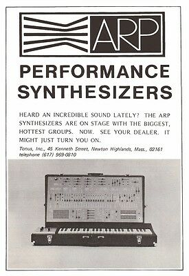 Arp 2600 Synth  *LARGE POSTER*  Promo ad Synthesizer moog 70's