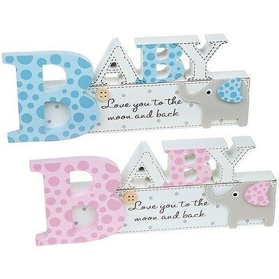 Elly Elephant Nursery Babies Mantel Sign New Baby Shower Gift - Boy / Girl