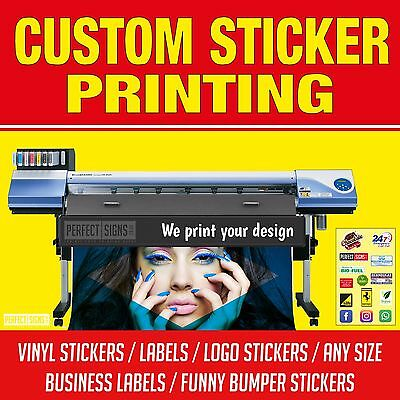 Bulk sticker custom print vinyl your design decals labels logo stickers printing