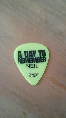 A Day To Remember Guitar Plectrum/pick Genuine Stage Used 2017