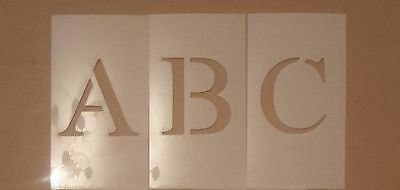 4 inch Times New Roman Uppercase Alphabet and Numbers Set Stencil