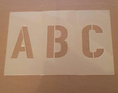 6 inch Upercase Alphabet Set Stencils Parking Lots and Arts and Crafts