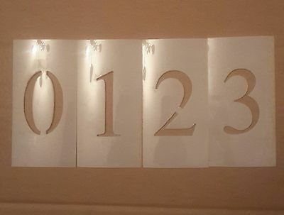 5 inch Times New Roman Number Set Stencil