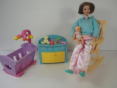 Barbie Grandmother, Baby, Rocking Chair, Furniture, Accessories