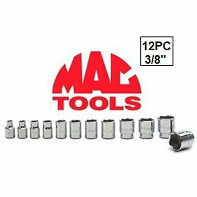 "Brand New 12Pc Mac Tools 3/8"" Drive Socket Set Sx126Tr"