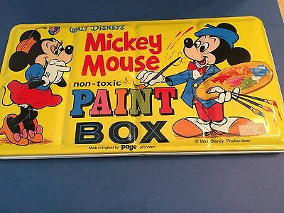 VintagePage London Tin Litho Disney Mickey & Minnie Mouse Watercolor Paint set