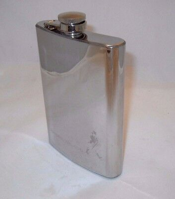 Johnnie Walker Promotional Hip Flask Stainless Steel 8 oz. (empty)