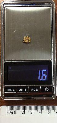 Australian Natural Gold Nugget 1.6 grams  approx weight .