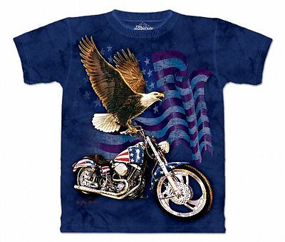 The Mountain Mens Born To Ride Short Sleeve T-Shirt, Blue, L
