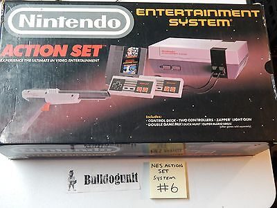 Nintendo NES Game Action Set Game Complete System CIB Box Mario Bros Duckhunt #6