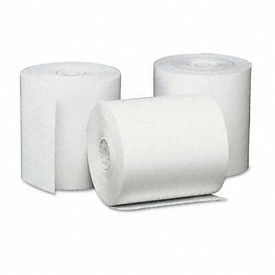 Universal 35763 Single-Ply Thermal Paper Rolls, 3-1/8 in. x 230 ft, White,