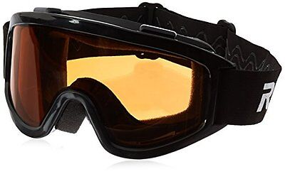 Raider Motorcycle & Snowmobile Dual Lens Goggle (Black, Size Adult)