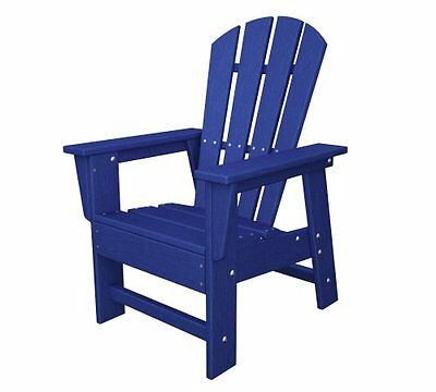 POLYWOOD SBD12PB Kids Casual Chair, Pacific Blue