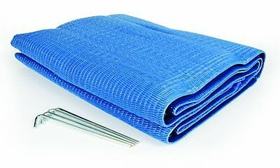Camco 42881 Reversible Awning Leisure Mat (6' x 9', Blue)