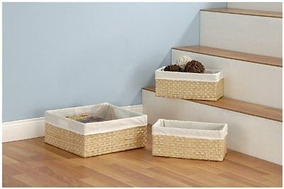 Organize It All Seagrass Baskets, Set of 3