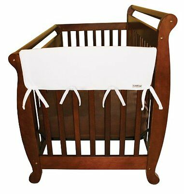 Trend Lab Fleece CribWrap Rail Covers for Crib Sides (Set of 2)  White  Wid
