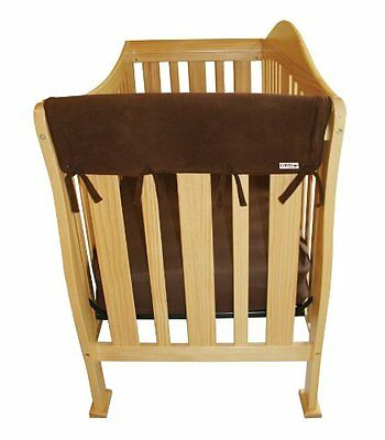 Trend Lab Fleece CribWrap Rail Covers for Crib Sides (Set of 2)  Brown  Wid