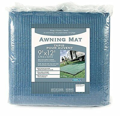 Camco 42821 Awning Leisure Mat (9' x 12', Blue)