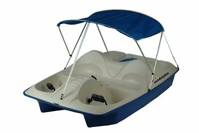 Sun Dolphin 5 Seat Pedal Boat with Canopy, Blue
