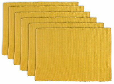 DII Everyday Basic Placemat Set of 6, Daffodil