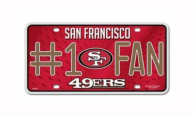 NFL San Francisco 49ers #1 Fan Metal Tag