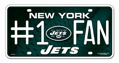 NFL New York Jets #1 Fan Metal Tag