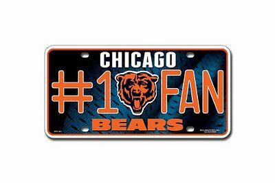 NFL Chicago Bears #1 Fan Metal Tag