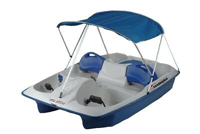 Sun Dolphin Sun Slider 5 Seat Pedal Boat with Canopy (Blue)