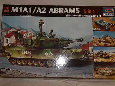 Trumpeter 1/35 M1A1/A2 Abrams 5in1 kit. New in box.