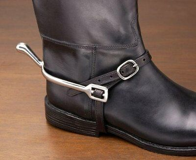 """EquiRoyal Leather Spur Straps - Black - 21"""""""