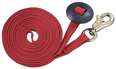 Tough 1 German Cord Cotton Lunge Line with Heavy Snap, Red