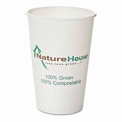 Compostable Paper/PLA Cup, 16oz, pack of 50