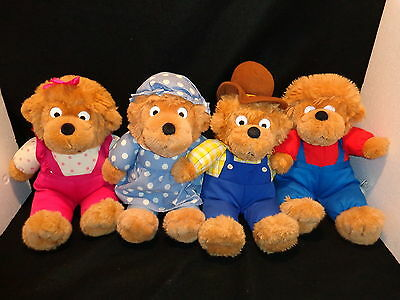 THE BERENSTAIN BEARS Large PLUSH BEARS Complete Family MAMA PAPA BROTHER SISTER