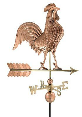 Good Directions 515P Large Rooster Weathervane, Polished Cop