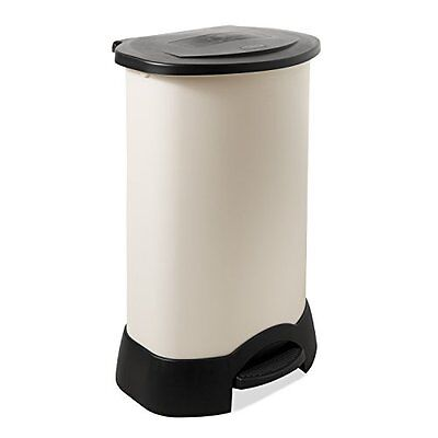 Rubbermaid Commercial FG614700LPLAT Step-On Trash Can, 30-Ga