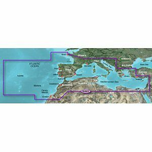 Garmin BlueChart g2 - Mediterranean Sea and Iberian Peninsula microSD Card