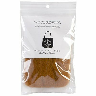 """Wool Roving 12"""" .22 Ounce-Toffee"""