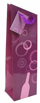 True Fabrications Angled Wine Bag, Purple