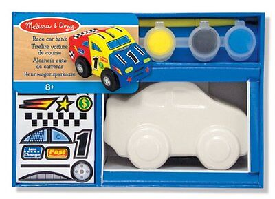 Melissa & Doug Decorate-Your-Own Race Car Bank