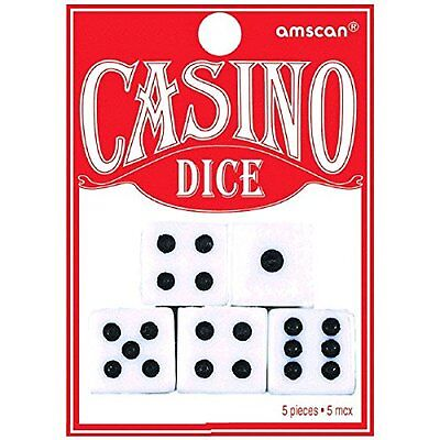 Casino Playing Dice 5/Pkg-