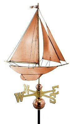 Good Directions 909P Racing Sloop Weathervane, Polished Copper