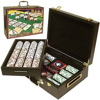 Trademark 500 Four Aces Chips In Deluxe Case Poker Chip Set,