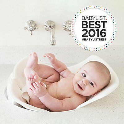 Puj Tub - The Soft, Foldable Baby Bath Tub, White